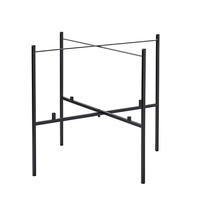 Tisch klappbar für 2 Tabletts 65/46 cm schwarz