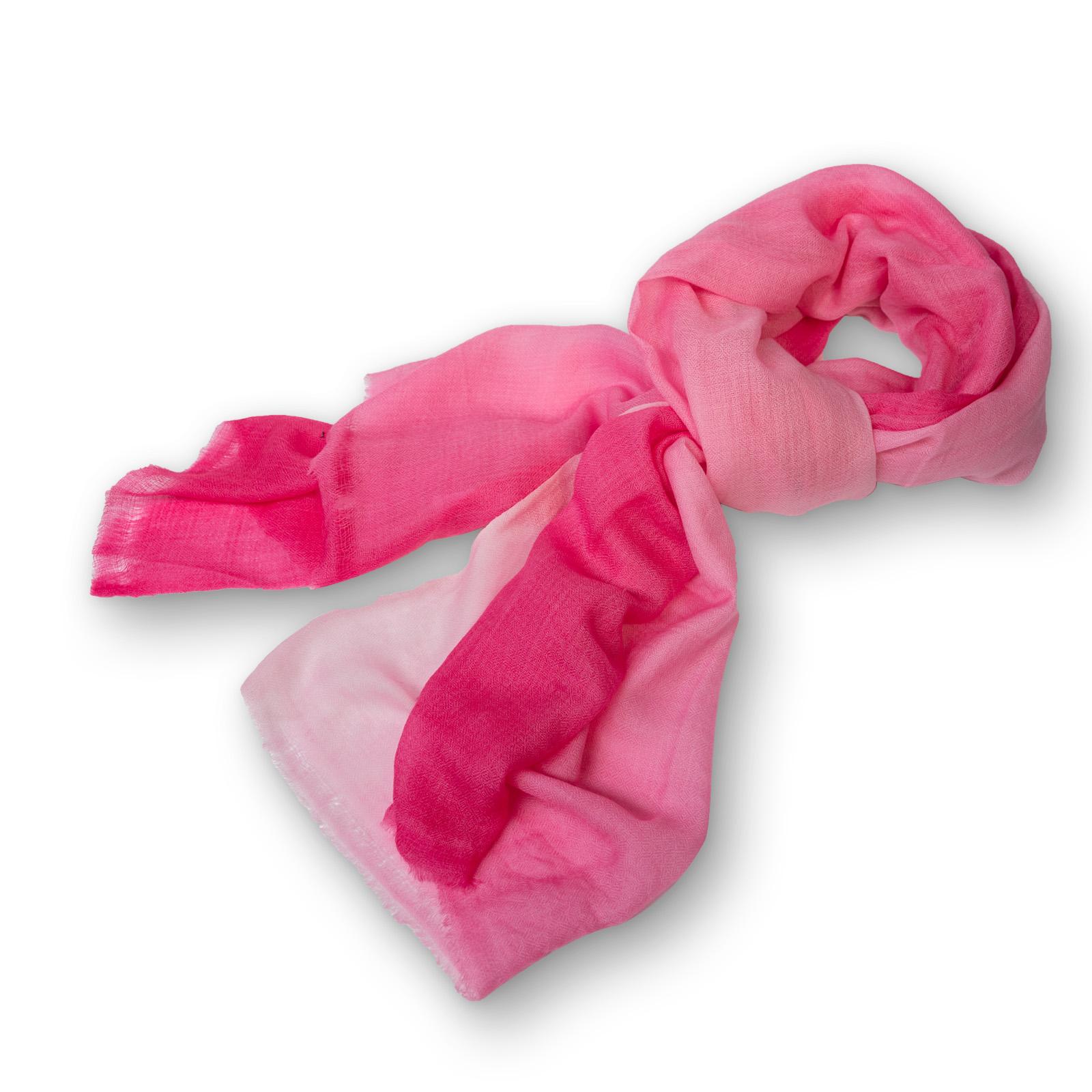 Pashmina - 100%  Cashmere  zweifarbig aus Nepal  70x200 cm  rosa-hellrosa
