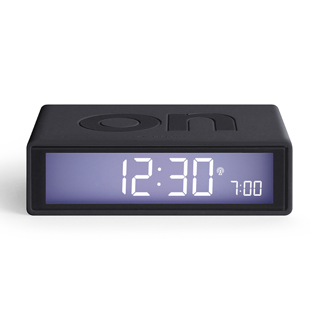 FLIP Umschaltbarer LCD-Wecker mit Funkuhr anthrazit (gun metall)