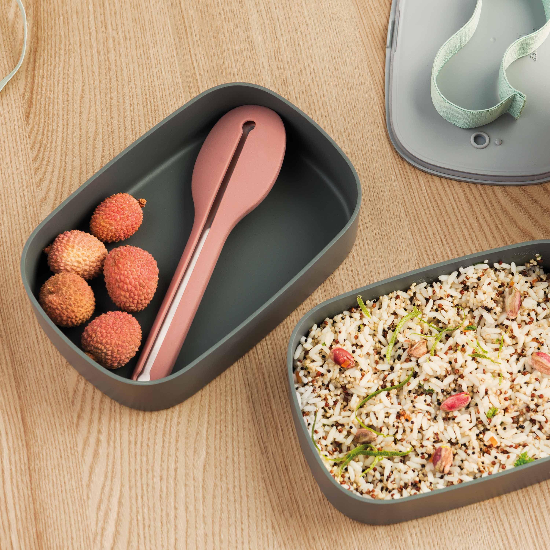 Doppelte Bento-Box, Lunchbox, grau