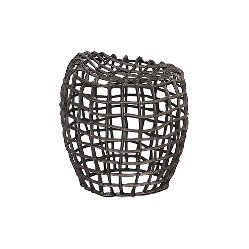 Sitzhocker aus Aluminium Farbe: grau matt für Innen- und Außenbereich