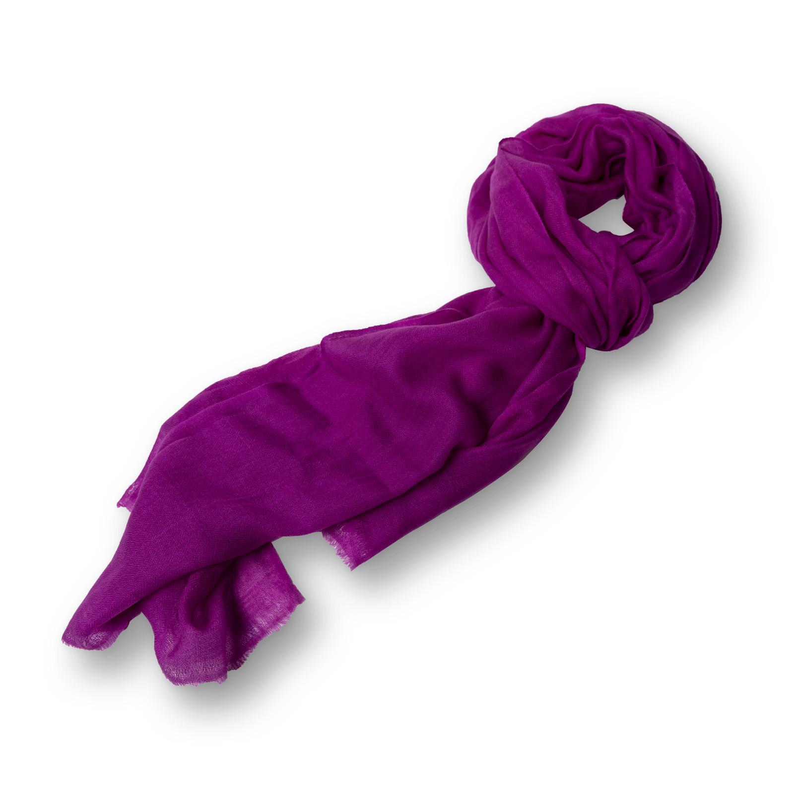 Pashmina - 100%  Cashmere  einfarbig aus Nepal  70x200 cm lila