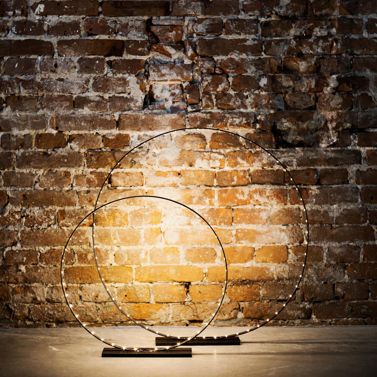 Designer Leuchte: Circle Magnum Stahl  450 mm