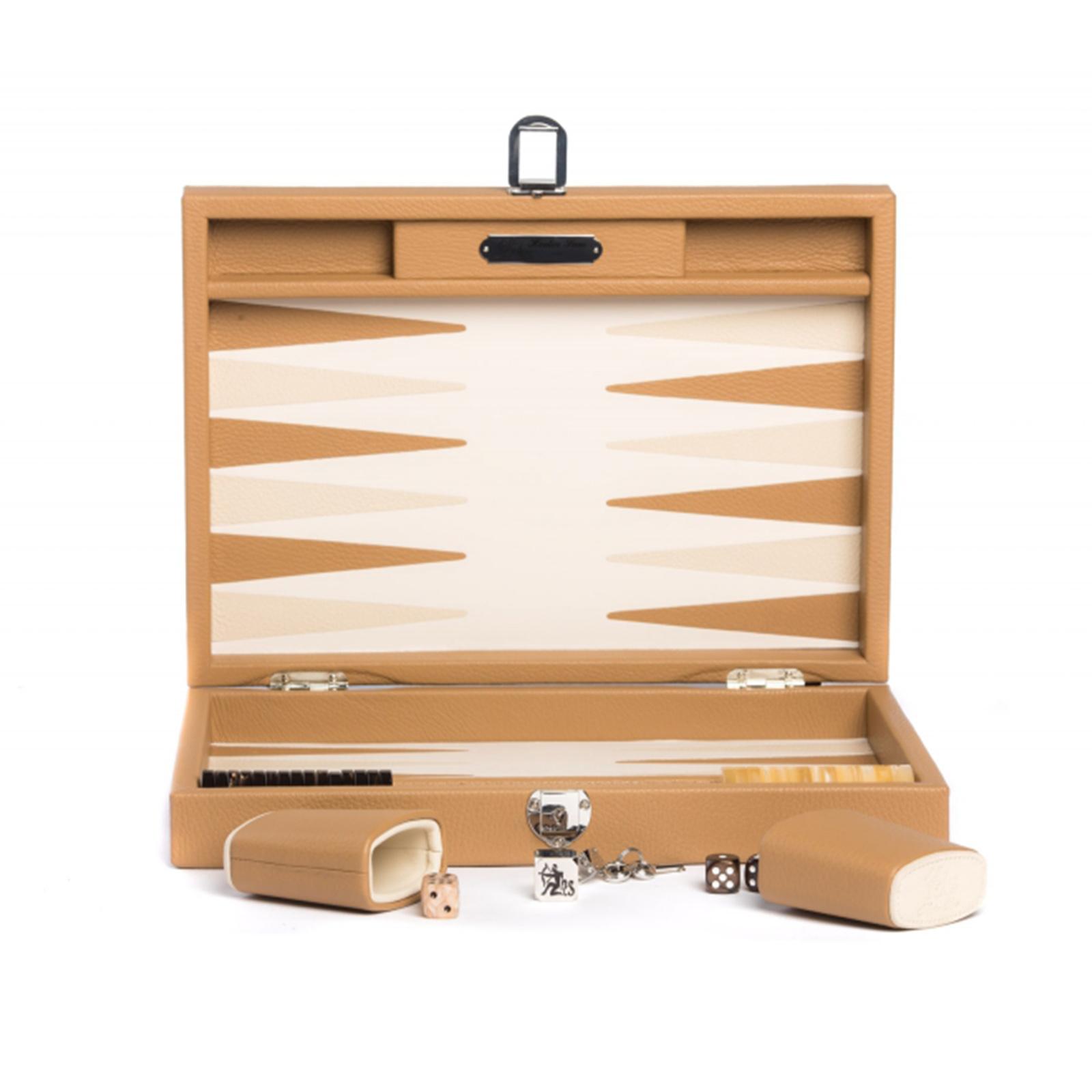 Backgammon Büffelleder Hector Saxe  - Baptiste Cognac medium