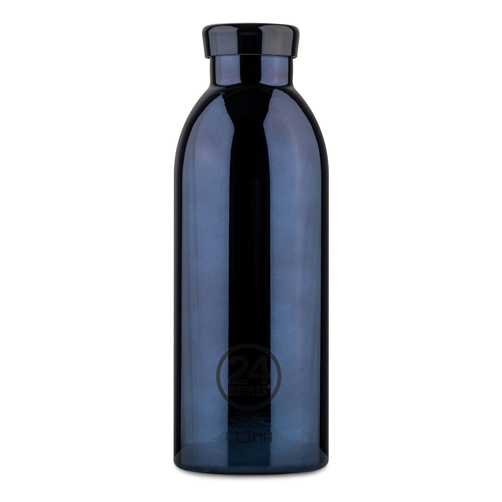 24Bottles Clima 500 ml Trinkflasche, Farbe: schwarz glänzend poliert