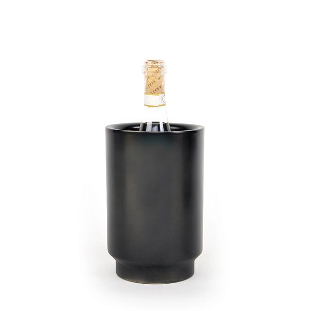 Weinkühler Rondo Edelstahl schwarz XLBoom