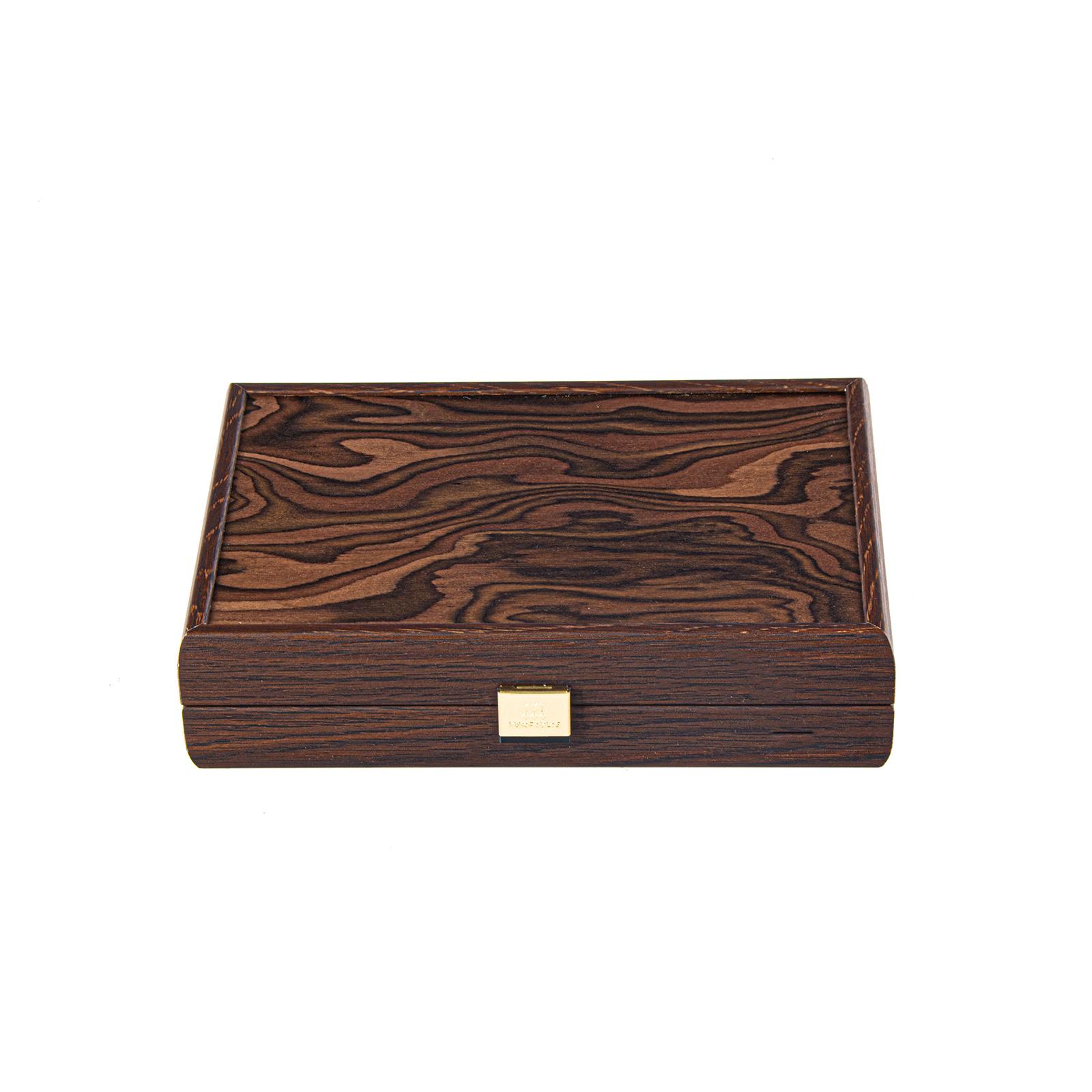 Spielkartenset in Holzbox mit kalifornischen Walnussholz ausgelegt mit feinem Velour