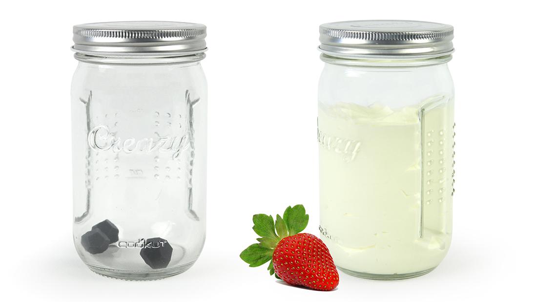 Schlagssahne-Shaker CREAZY aus Glas von Cookut