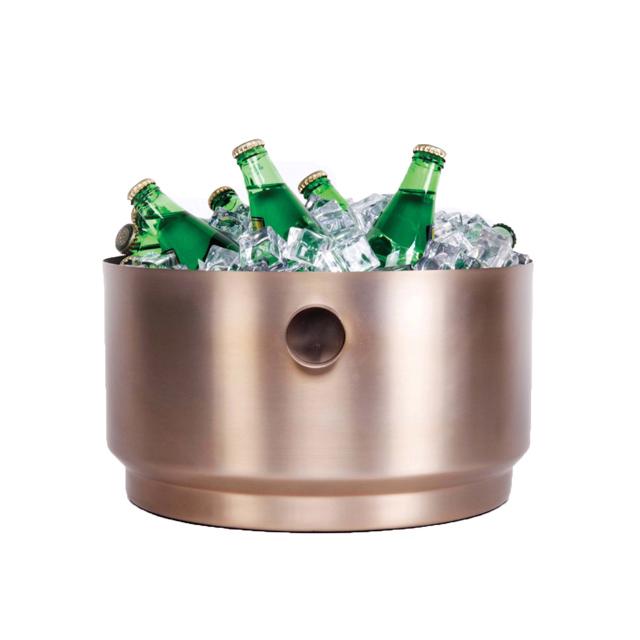 Champagnerkühler  XL Rondo Edelstahl soft Kupfer XLBoom