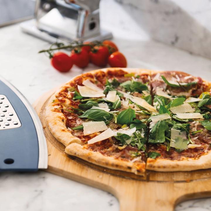 Pizza-Set  Pizzastein, Schaufel und Pizzaschneider im Set