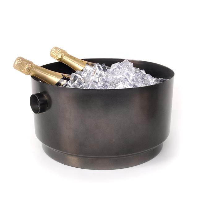 Champagnerkühler  XL Rondo Edelstahl schwarz XLBoom