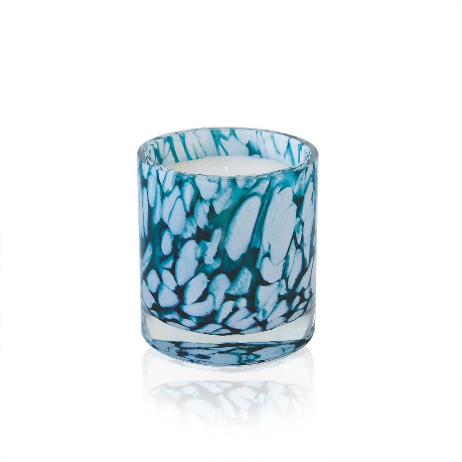 Duftkerze mundgeblasenem Glas: Anis, Minze, Vanille