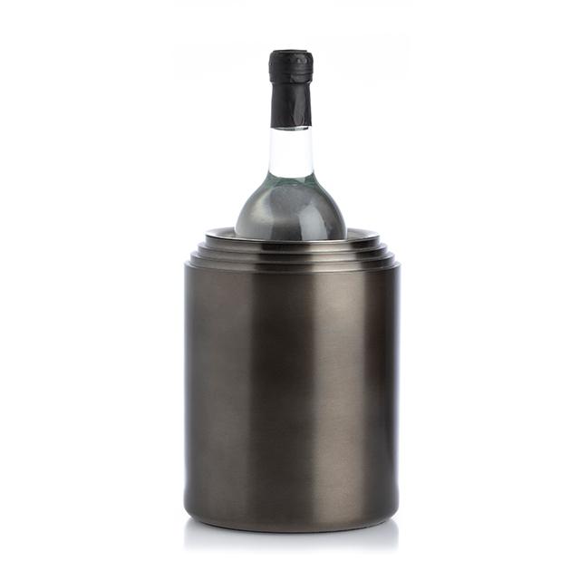 Champagnerkühler Laps Edelstahl/Alu Farbe: schwarz XLBoom