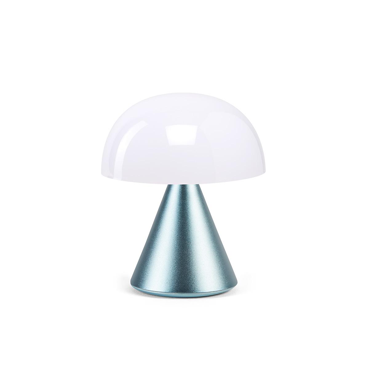 MINA Mini- LED-Lampe von Lexon hellblau poliert