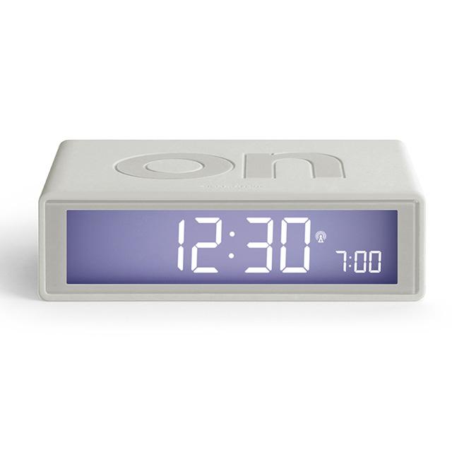 FLIP Umschaltbarer LCD-Wecker mit Funkuhr weiß