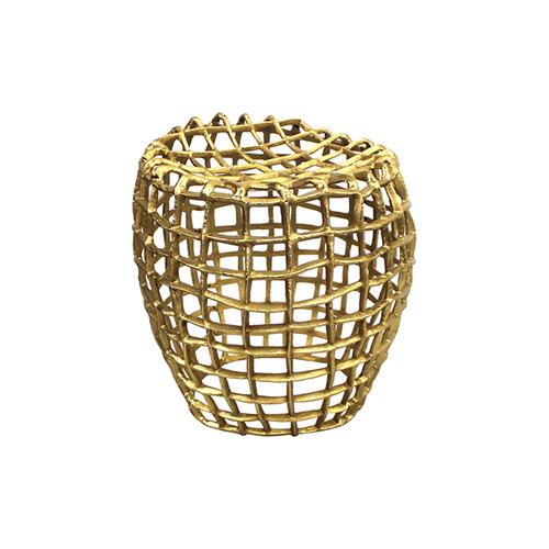 Sitzhocker aus Aluminium Farbe: gold für Innen- und Außenbereich