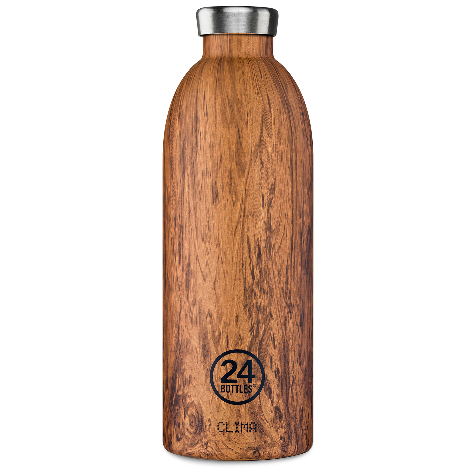 24Bottles Clima 850 ml Trinkflasche, Farbe: sequoia wood