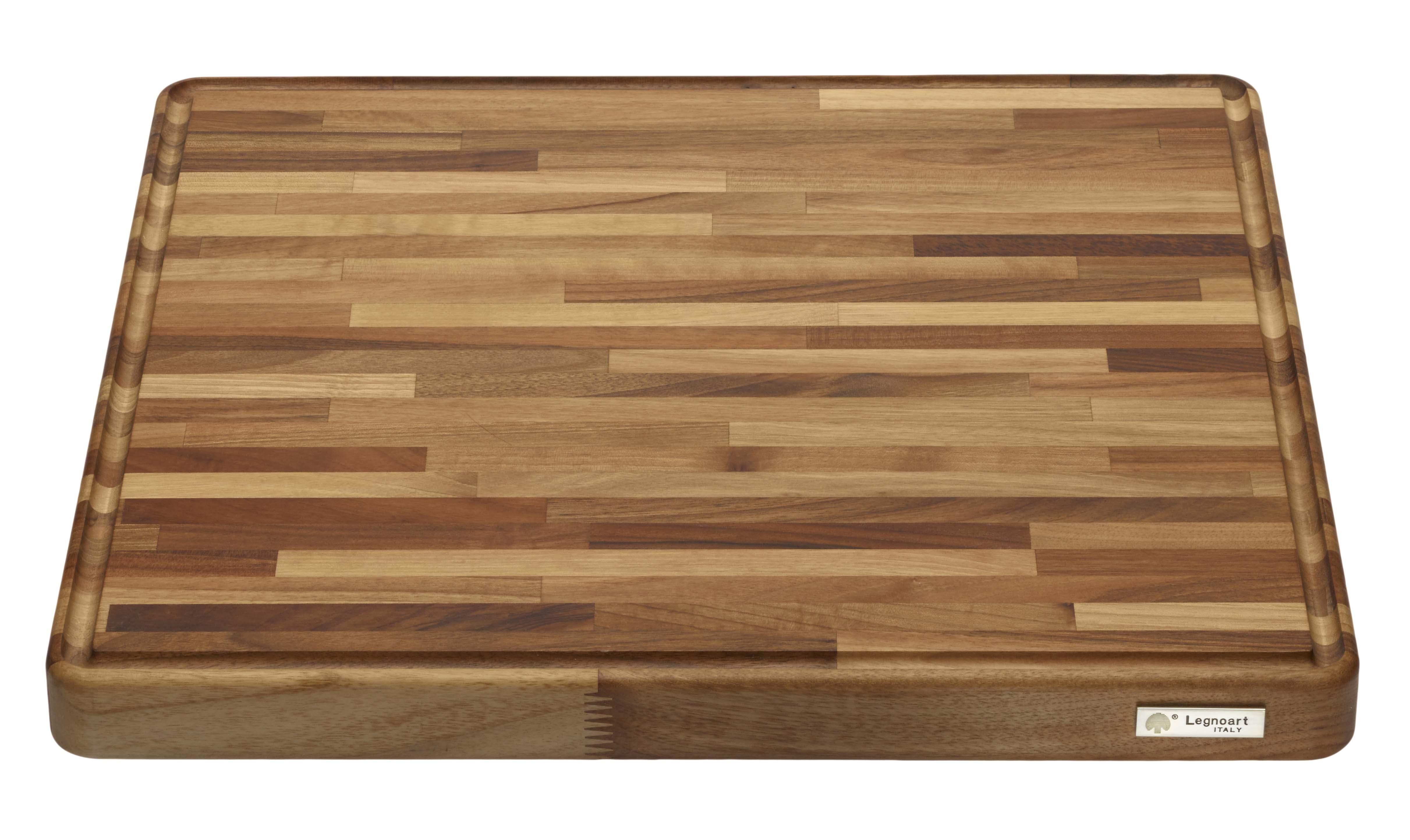 Chef´s TOP 600x500x40/70 Hackbrett aus Nußbaumholz Natur, Oberflächenbehandlung mit Biologischen Produkten