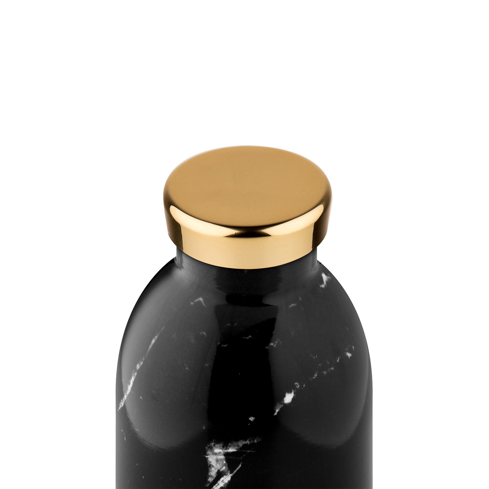 24Bottles Clima 850 ml Trinkflasche, Farbe: Marmor schwarz